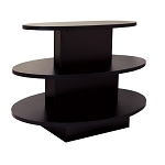 OVAL 3 TIER DISPLAY TABLE BLACK