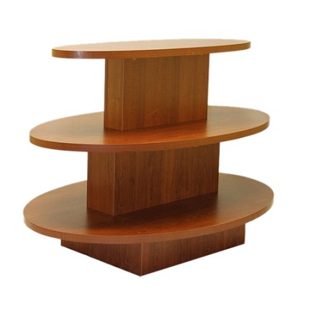Black 3 tier oval display table for Html display table