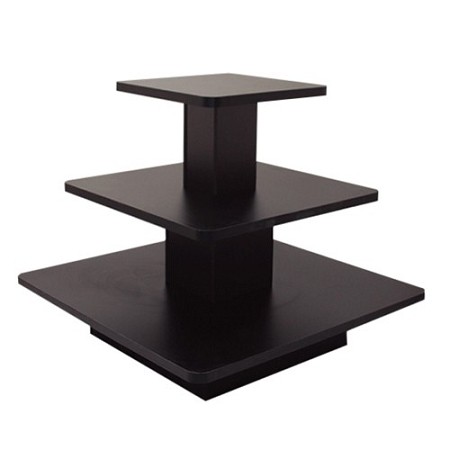 Black 3 Tier Sqaure Display Table