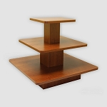 SQUARE 3 TIER DISPLAY TABLE CHERRY