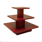 SQUARE 3 TIER DISPLAY TABLE WALNUT