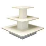 SQUARE 3 TIER DISPLAY TABLE WHITE