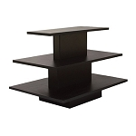 RECTANGULAR 3 TIER DISPLAY TABLE BLACK