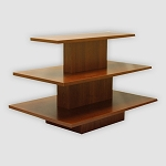 RECTANGULAR 3 TIER DISPLAY TABLE CHERRY