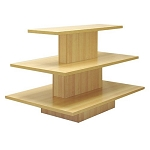 RECTANGULAR 3 TIER DISPLAY TABLE MAPLE