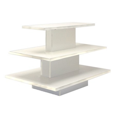 RECTANGULAR 3 TIER DISPLAY TABLE WHITE. 3TS6042W