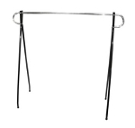 Single Bar Black Beauty Clothing Rack