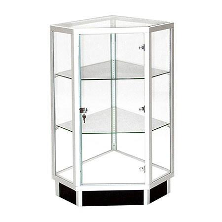 Extra Vision Glass Corner Filler Display Case Front