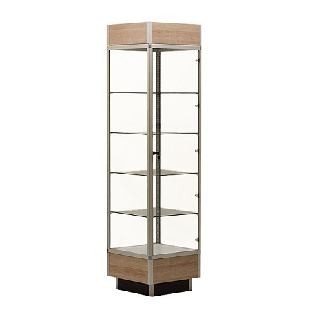 Aluminum Display Tower Case 78 Quot Tall With Maple Laminate Top