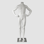 Male Mannequin Headless White