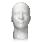 Styrofoam Male Mannequin Head