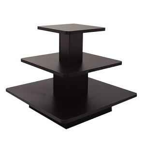 Black 3 Tier Sqaure Display Table