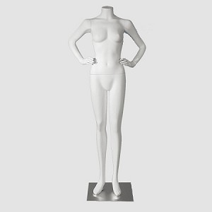 Female Mannequin Headless White