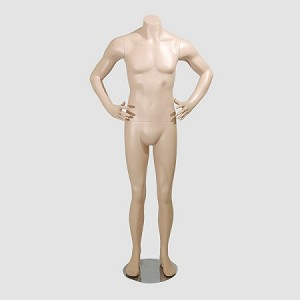 Male Mannequin Headless Fleshtone