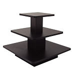 SQUARE 3 TIER DISPLAY TABLE BLACK