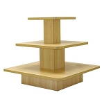 SQUARE 3 TIER DISPLAY TABLE MAPLE