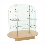 Glass Cube Display With Oval Base 54